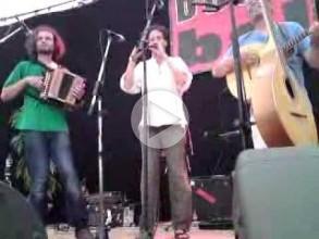 Stephan Steiner (diatonic accordion); Albin Paulus (bombarde); John Morrissey (mandola); Peter Natterer (bass) play a Suite Plinn at Boombal Festival, Gent, August 2009